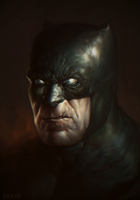 Dark knight Returns Portrait by DanarArt