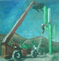 Cactus Cell Tower by QuixoticouS