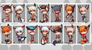 Kemonomimi (SET PRICE) - CLOSED by Melixion