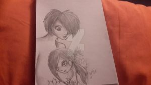 sketch challenge day 18 Our is in bloom by PlushieBeauty