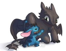 Toothful/Toothless by tripplejaz