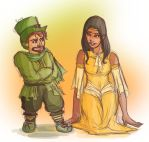 LADY LUCK + LEPRECHAUN - LIKE FATHER LIKE DAUGHTER by cirquedelart