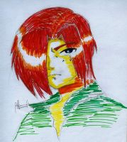 char. design in color pen by maddaluther
