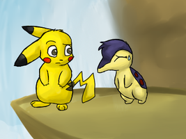 PMD: Pikachu and Cyndaquil by Moonblizzard