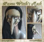 Raven Witch's Mask by Angelic-Artisan