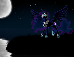 Nightmare Moon by AMPGamer
