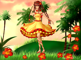 Hibiscus Flower Girl by EarthJolly
