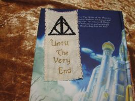 Deathly Hallows Symbol Cross Stitch Bookmark by DaydreamQueenMisha