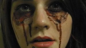 Halloween Peeling Eye makeup by Randomshadowmusic