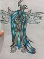 Queen Chrysalis Draw on Notebook by alanfernandoflores01