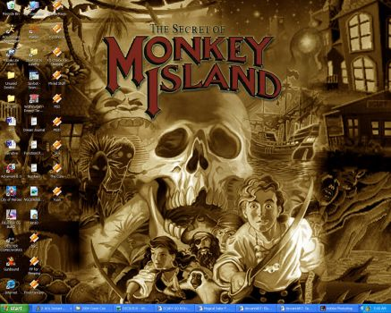 Monkey Island by Eluude