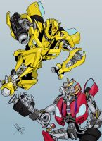 Bumblebee vs Rumble by GerHankey