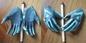 Midna hands papercraft by minidelirium