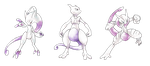 Mewtwo Trio - Old S. Style by Tomycase