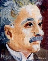 Minuscule Albert Einstein by Paintsmudger