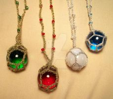Marble Pendants by NevaSirenda