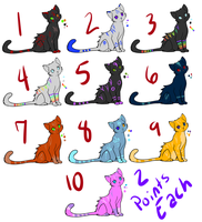 2 point kitty adoptables(CLOSED) by NightRhynn