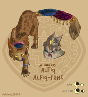 types of Khajiits: Alfiq and Alfiq-rath by HeloiseTheSiamese