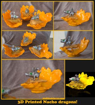 3D Printed Nacho Dragons by The-SixthLeafClover