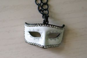 Venetian Mask Necklace by foowahu-etsy