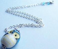 Blue Woodland Owl Necklace by ms-pen