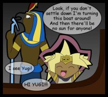 Atem and Ra don't Mix by Bayleef-