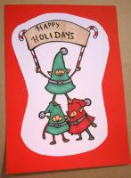 Holiday Card Project 2014-004 by fuwa-cat