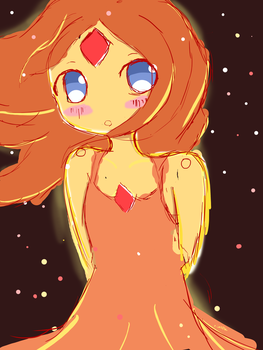 Flame Princess Sketch by zWaffle
