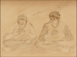 Video Games - Harry and Ron by orangenbaum