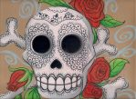 Pastel Sugar Skull by keki-girl