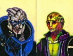 Garrus and Thane by Miffeh