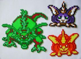 HAMA beads DQ GulpBeast and... by HareTrinity