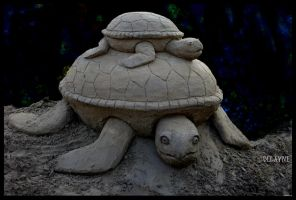 Sand Turtle Stack by sculptin