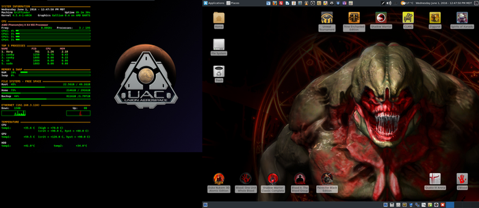 June 2016 Desktop - Arch Linux and Xfce by hamishpaulwilson