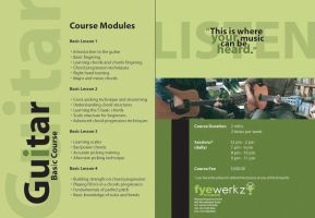 Guitar course brochure by whiteswordian
