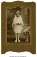 1931 Vintage Photo and Frame 1st Communion vers 2 by EveyD