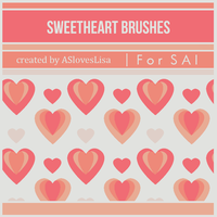 [For SAI]  Sweetheart Brushes by ASlovesLisa