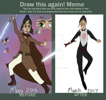 Draw This Again Meme [Aria's Ref] by TheElvenJedi