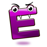 Smiley Alphabet - E by mondspeer