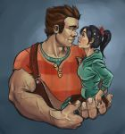 Ralph and Vanellope by blindthistle