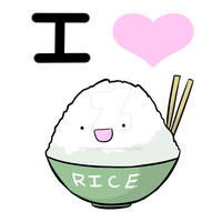 I Love Rice by hyperfluffball