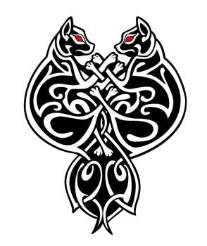 Celtic Cats vector by Mouagip