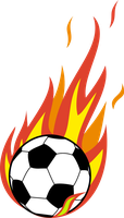 Flaming Soccer ball by The-Smiling-Pony