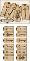 Printable Key Tags by VectoriaDesigns