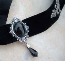 Black Velvet Choker - Onyx New by Aranwen