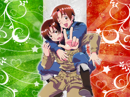 Italy brothers wallpaper by Shirayuki-Arisu