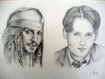 Johnny Depp - Jack and James by loveinmypocket