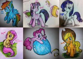 My Little Mane 6 by Jonah-yeoj
