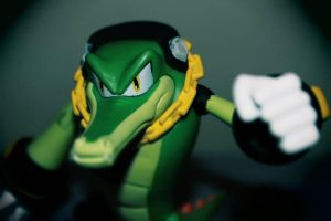 Vector the Crocodile figure posing by ViluVector