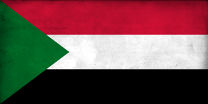 Grunge Flag of Sudan by pnkrckr